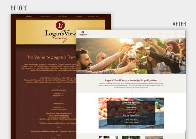 Logan's View Winery Website Redesign