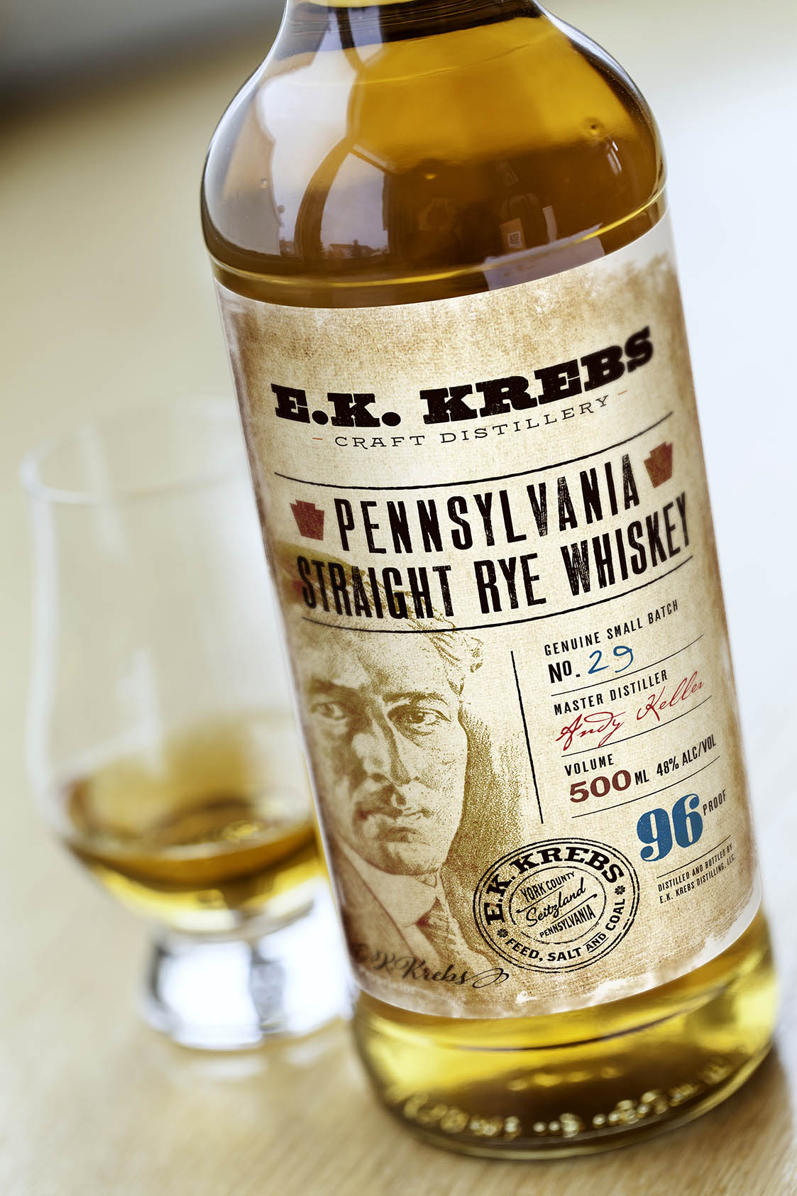 E.K. Krebs Whiskey Packaging
