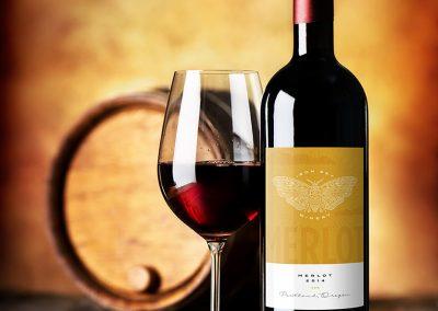 Iron Sky Winery Merlot Packaging