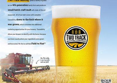 Two Track Malting Ad